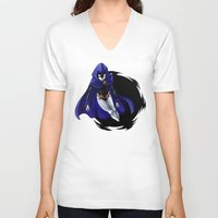 teen titans V-neck T-shirts featuring Teen Titans: Raven by JaDis