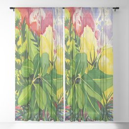 Blooming Sheer Curtain