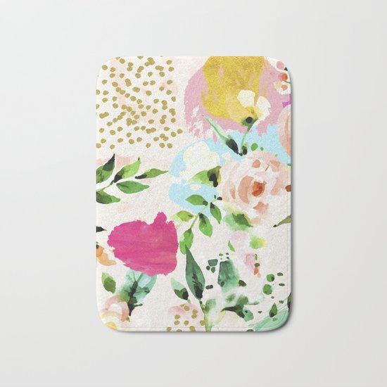 Floral Blush #society6 #decor #buyart Bath Mat
