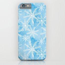 Blue Snowflakes #2 iPhone Case