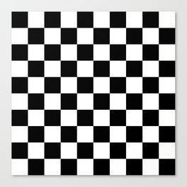 Black & White Checker Checkerboard Checkers Canvas Print