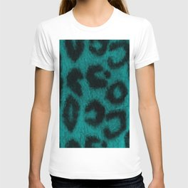 Spotted Leopard Print Turquoise Teal T-shirt