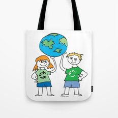 Recycle Message Kids Tote Bag