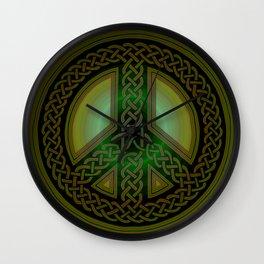 Celtic Knot of Peace Wall Clock