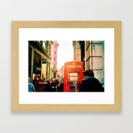 A London Telephonebooth Framed Art Print