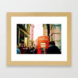 A London Telephonebooth Framed Art Print