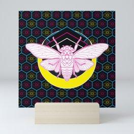 Geometric Cicada Mini Art Print