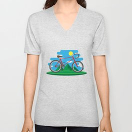 Cycling Forever | Bicycle Enthusiast Unisex V-Neck