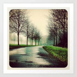 Misty park - Instagram Art Print