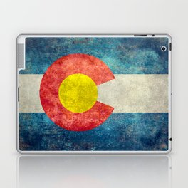 Colorado State flag, Vintage retro style Laptop & iPad Skin