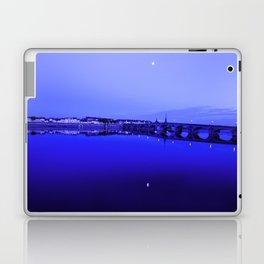France landscape, Amboise, Loire valley, dusk, reflection, river, blue Laptop & iPad Skin