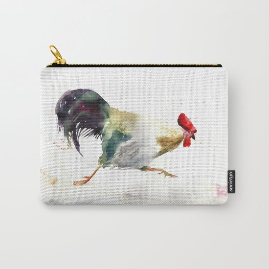 Symbol of 2017 Year, watercolor rooster, cock, cockerel Carry-All Pouch