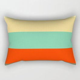 Retro Color Palettes Rectangular Pillow