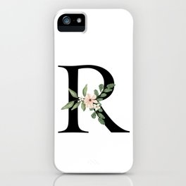 Botanical R iPhone Case