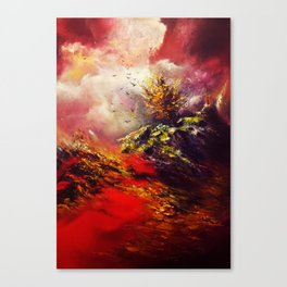 God of Fire and Red Earth Canvas Print