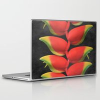 musa Laptop & iPad Skins featuring Heleconia rostrata by Sharon Mau