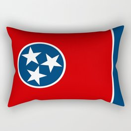 State flag of Tennessee, HQ image Rectangular Pillow