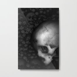 Kostnice Beinhaus Skull II Metal Print