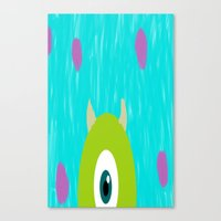monsters inc Canvas Prints featuring Monsters Inc by amalchristine