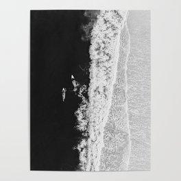 Ocean Surfing Girls Poster