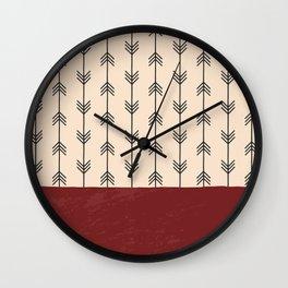 RED ARROW PATTERN Wall Clock