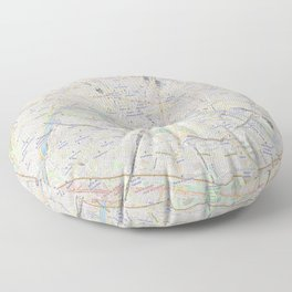 map of Paris – France, French,city of light,seine, parisien, parisian. Floor Pillow