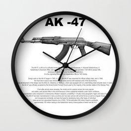 AK-47 History Wall Clock