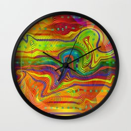 Play with stripes  11 Wall Clock