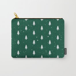 Christmas Trees Pattern Green Carry-All Pouch