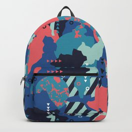 Vivid Collaged Geometric Tribal Abstract Geo Native Backpack