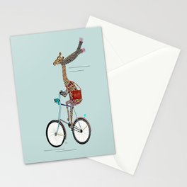 Giraffes School Days  Stationery Cards