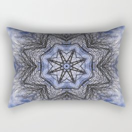 Branches, clouds and sky kaleidoscope Rectangular Pillow