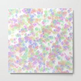 Colorful Confetti Design Print Metal Print
