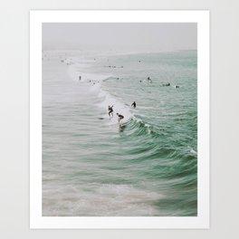 lets surf iv / venice beach, california Art Print