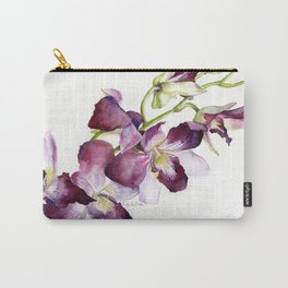 Radiant Orchids: Magenta Dendrobiums Carry-All Pouch