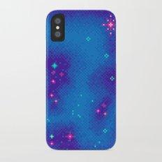 Indigo Nebula (8bit) Slim Case iPhone X