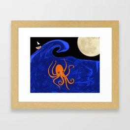 Poseidon's Playtime  Framed Art Print