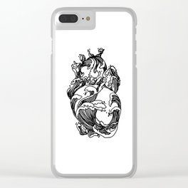 Heart of The Ocean Waves Clear iPhone Case