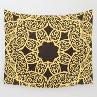 arabic Wall Tapestries featuring arabic pattern by los_ojos_pardos