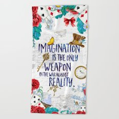 Alice in Wonderland - Imagination Beach Towel