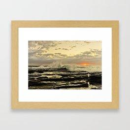 Sun Rise the golden light  Framed Art Print