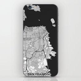 San Francisco Map Gray iPhone Skin