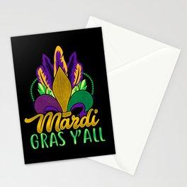 Mardi Gras Y'All Stationery Cards