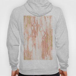 Rose Gold Marble - Rose Gold Yellow Gold Shimmery Metallic Marble Hoody