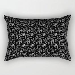 Black & White Paisley Fish Rectangular Pillow