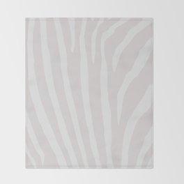 Tan & Off White Zebra Print Throw Blanket