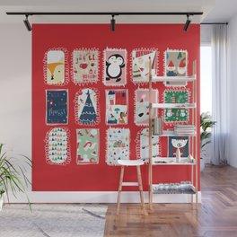 Christmas around the World red #Christmas Wall Mural