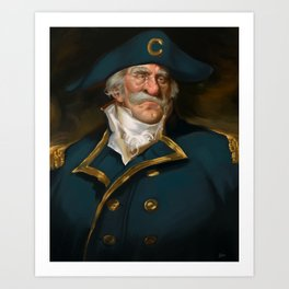 Oh Captain, My Captain (Captain Crunch) Art Print