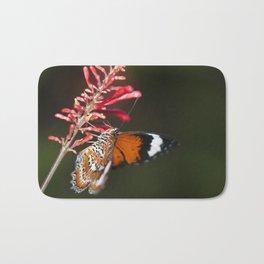 Butterfly drinking Bath Mat