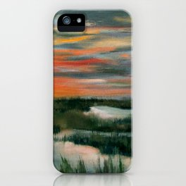 Salt Marsh At Sunset iPhone Case
